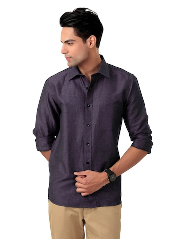 Arrow Men Purple Shirt