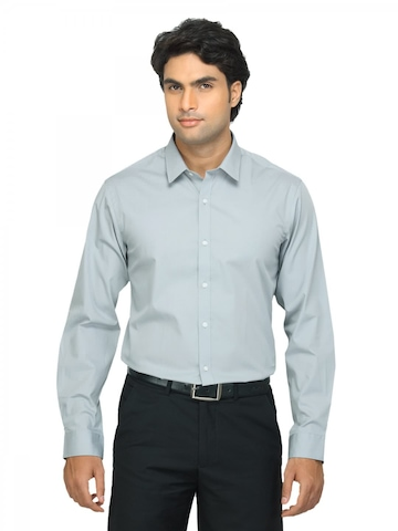 Arrow New York Men Grey Slim Fit Shirt