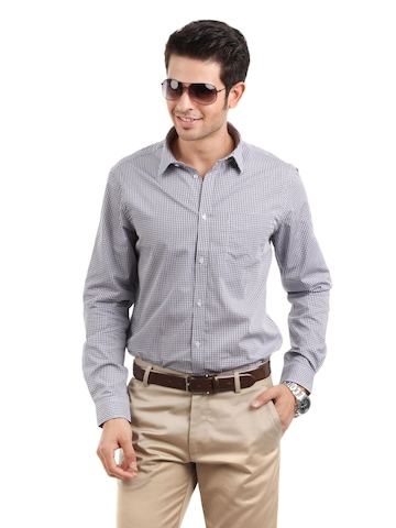 Arrow New York Men Purple Slim Fit Shirt
