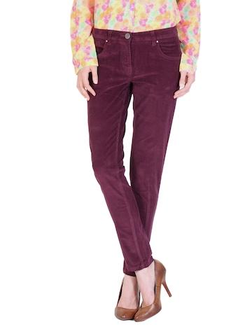 Arrow Woman Burgundy Corduroy Trousers