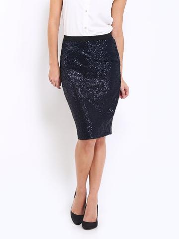 Arrow Woman Black Julia Sequin Skirt at myntra