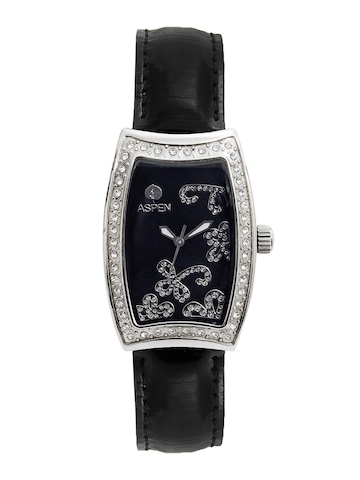 Aspen Women Black Dial Watch
