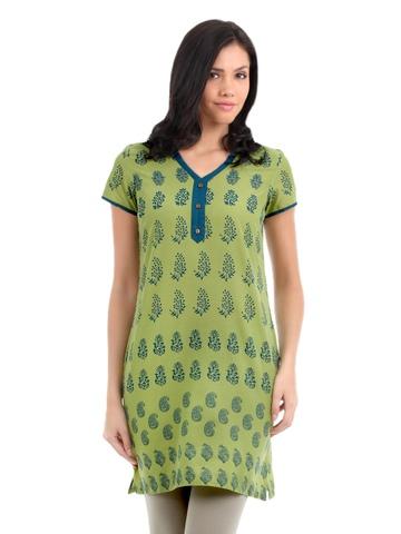 Aurelia Women Green Kurta