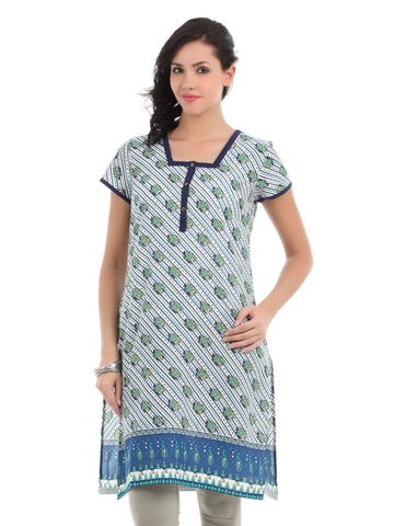 Aurelia Women White Printed Kurta