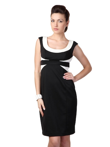 Avirate Black & Cream Dress