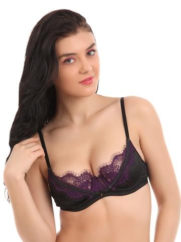 Avirate Purple & Black Bra