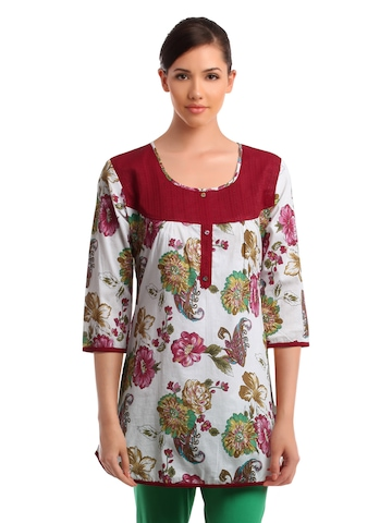Ayaany Women Printed Red Tunic