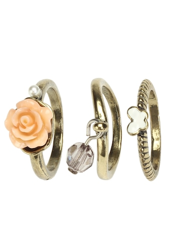 Ayesha Golden Set of 3 Rings