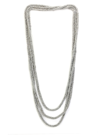 Ayesha Silver Beaded Necklace
