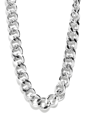 Ayesha Steel Toned Necklace at myntra