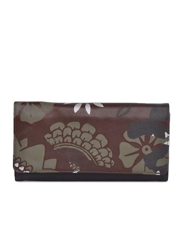 Baggit Women Digital Taj Brown Wallet