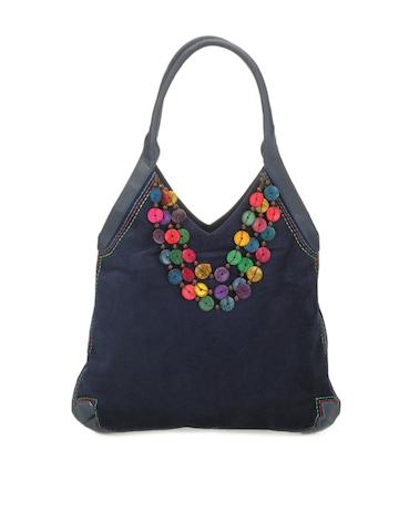 Baggit Women Navy Blue Handbag