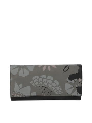 Baggit Women Grey Printed Wallet