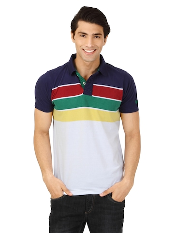Basics Men Multicoloured Polo T-shirt