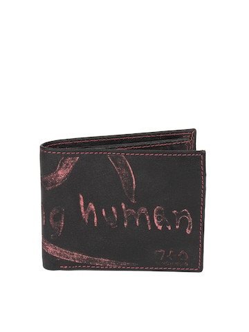 Being Human Clothing Men Black Leather Wallet