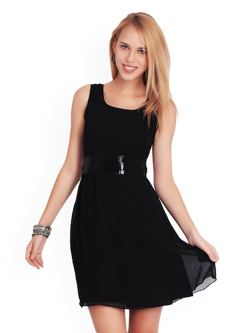 Belle Fille Black Fit & Flare Dress