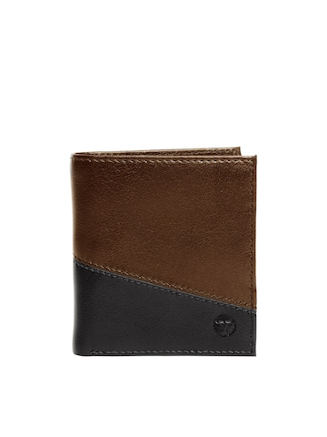 Bulchee Men Ufficio Black & Brown Wallet