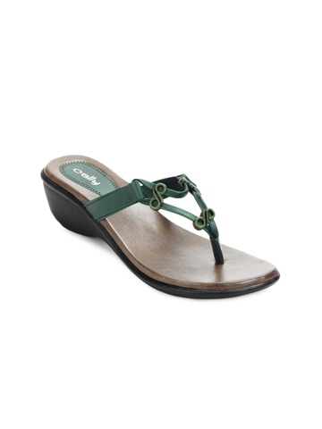 Cally Women Green Sandals