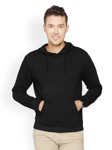 Campus Sutra Men Pack of 2 Black Hooded Sweatshirts at myntra