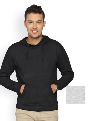 Campus Sutra Men Pack of 2 Hooded Sweatshirts at myntra