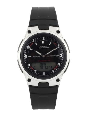Casio Men Black Digital & Analogue Watch AD84