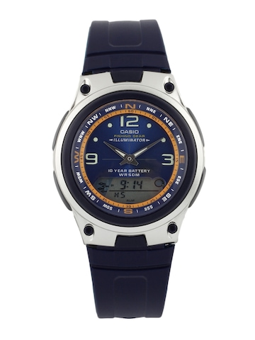 Casio Men Blue Dual Time Watch