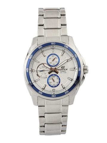 Casio Men Edifice Silver Chronograph & Analogue Watch ED422