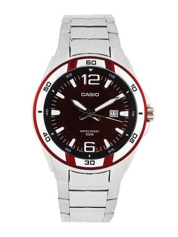 Casio Men Maroon Dial Watch