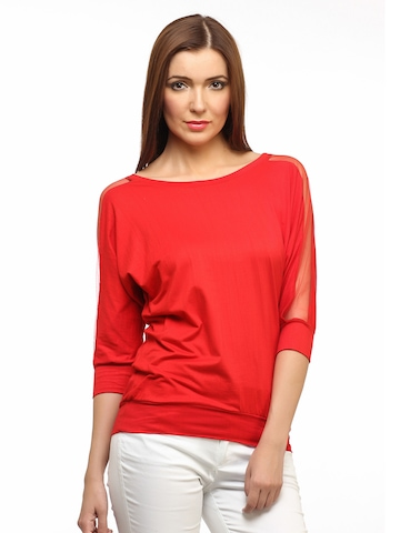 Cation Women Red Top at myntra