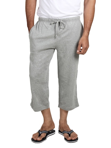 Chromozome Men Grey Melange Lounge Shorts