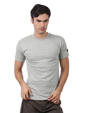 Chromozome Men Grey Melange  Innerwear T-shirt