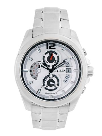 Citizen Men Sliver Dial Chronograph Watch