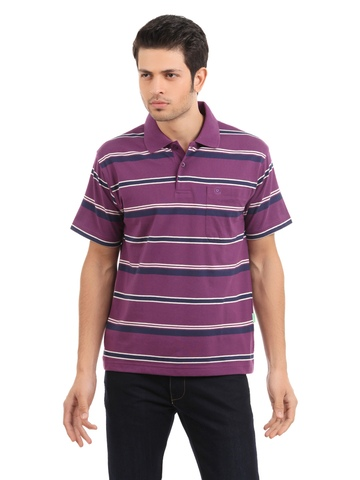 Classic Polo Men Purple T-shirt