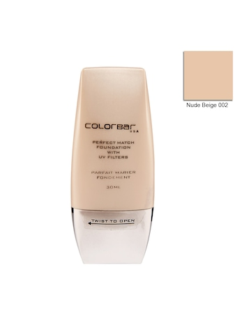 Colorbar Perfect Match Nude Beige Foundation 002