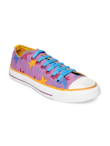 Converse Unisex Purple Star Print Ox Shoes