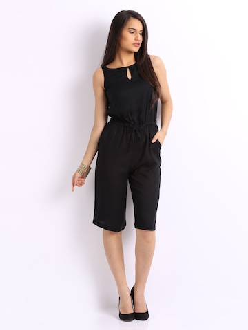 Cottinfab Women Black Playsuit at myntra
