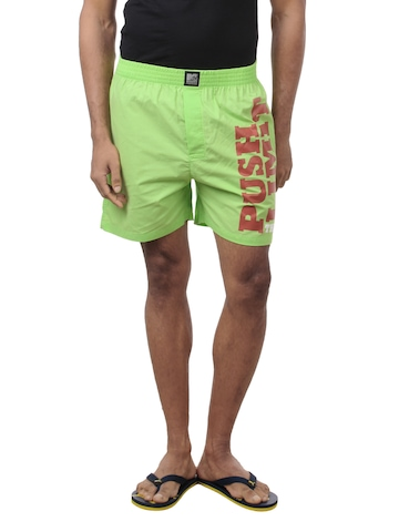 Crusoe Men Green Boxer Shorts