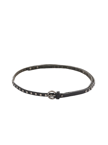 Diesel Women Charcoal Piccolea Belt