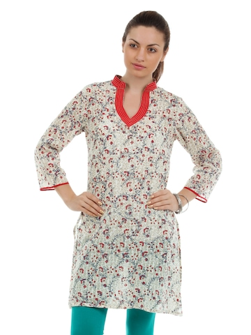 Diva Women Cream Kurta