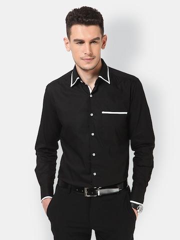 Dazzio Men Black Slim Fit Casual Shirt at myntra
