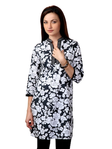 Dhwani Women Black Kurta
