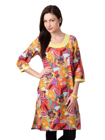 Dhwani Women Multi Coloured Kurta