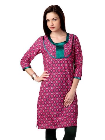 Dhwani Women Pink Kurta