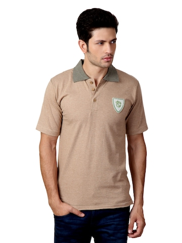 Do u speak green Men Brown T-shirt