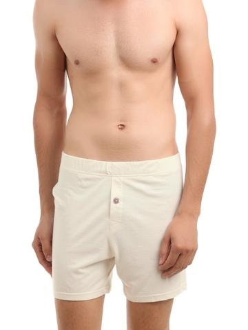 Do U Speak Green Men Cream Shorts