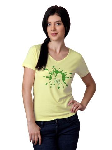 Do u speak green Women Yellow Top
