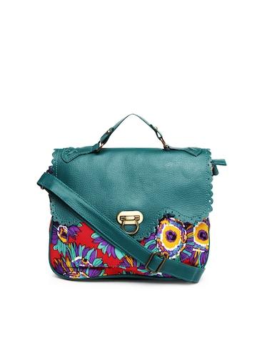 Buy DressBerry Green & Red Sling Bag - Handbags for Women | Myntra