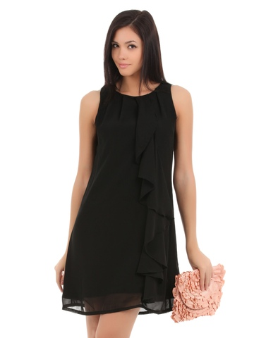 Elle Women Black Dress