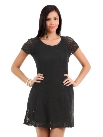 Elle Women Black Dress