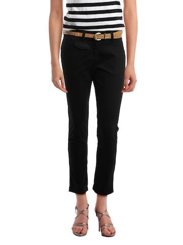 Elle Women Black Trousers